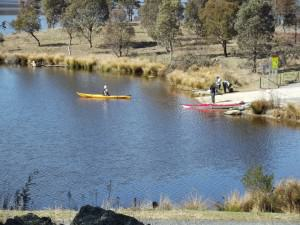 Canoeing on Googong Dam